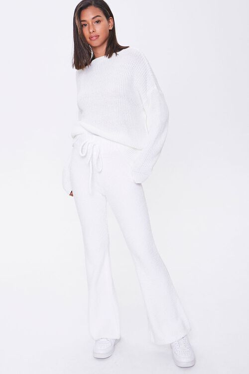 CREAM Sweater-Knit Flare Pants, image 1
