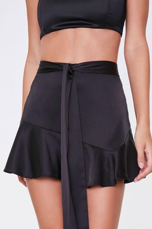 Satin Flounce Mini Skirt, image 2