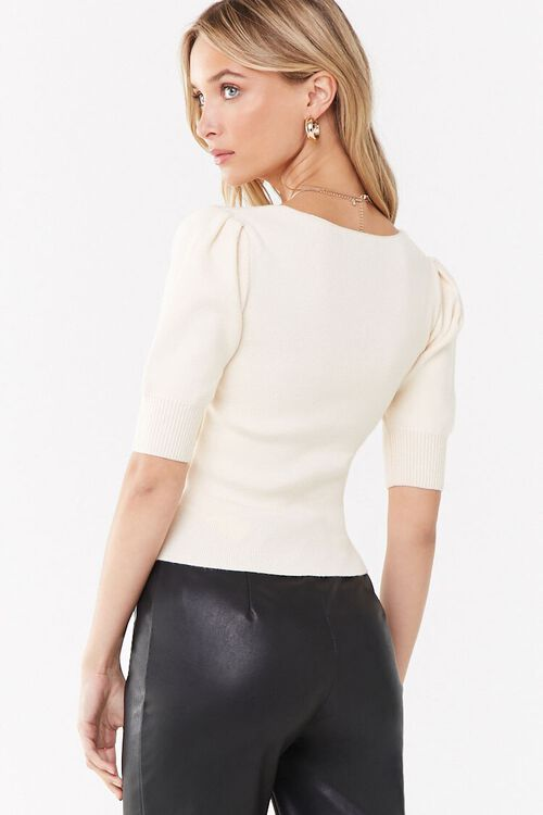 Ruched Puff Sleeve Sweater, image 3
