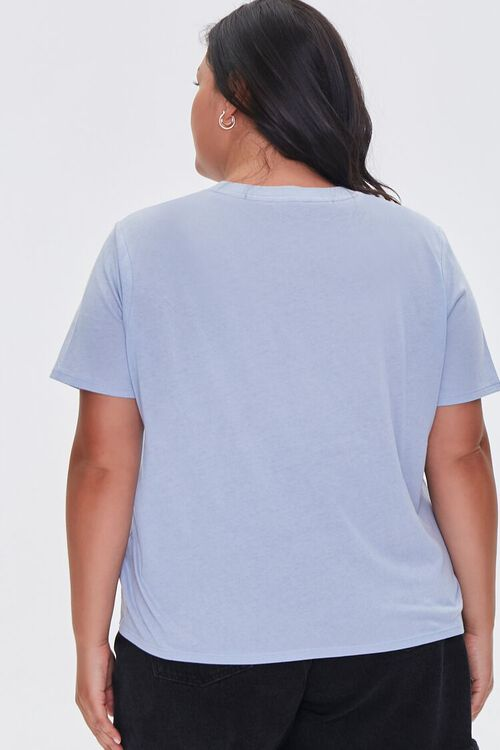 DUSTY BLUE Plus Size Organically Grown Cotton Tee, image 3
