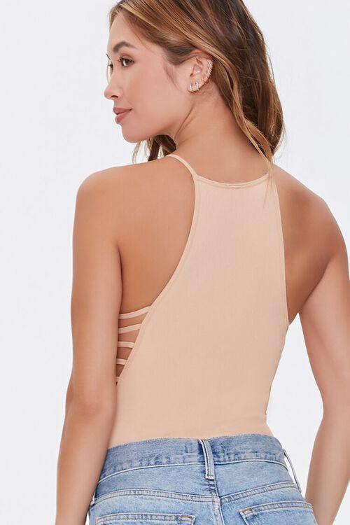Seamless Ribbed Knit Lingerie Bodysuit, image 3