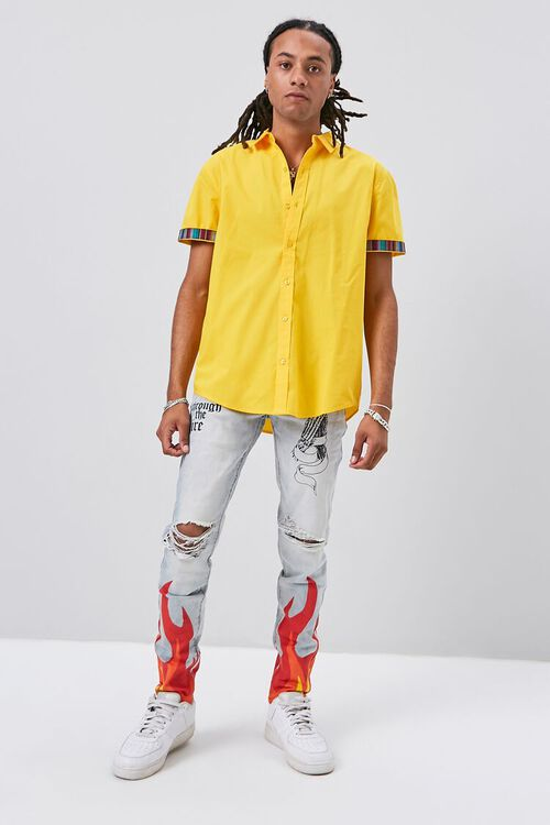Striped-Trim Fitted Shirt, image 4