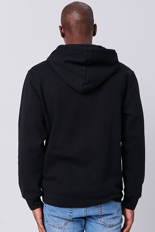 BLACK/MULTI Classic Chenille Patch Graphic Hoodie, image 3