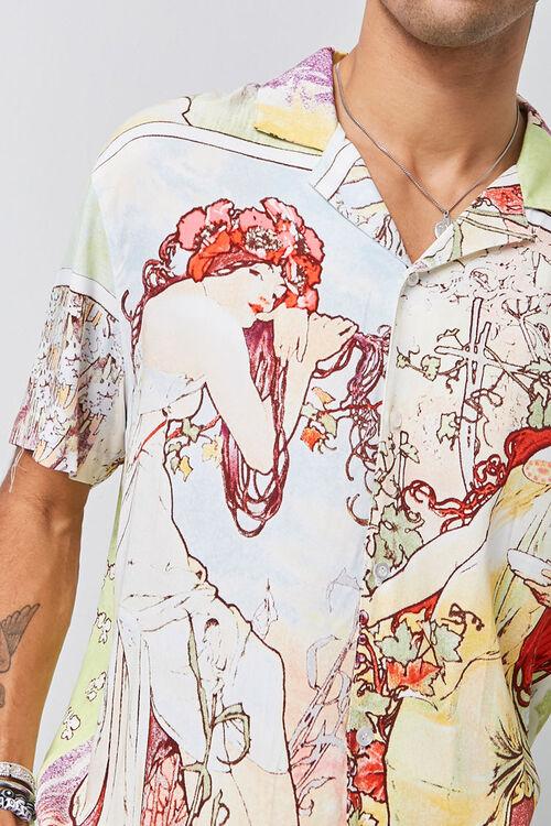 Alphonse Mucha Print Shirt, image 5