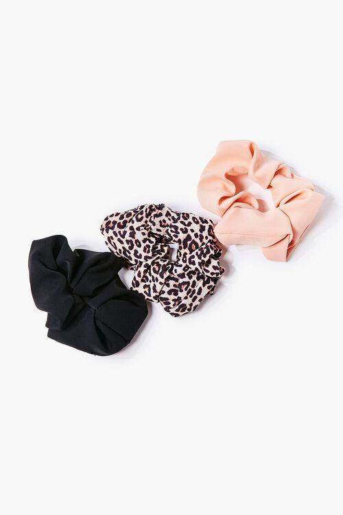 BLACK/MULTI Leopard Print Scrunchie Set, image 1