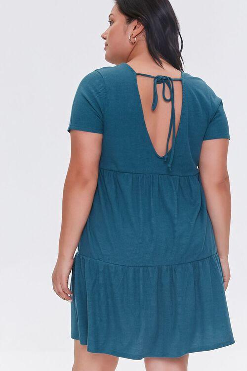 Plus Size Tiered Tie-Back Mini Dress, image 3
