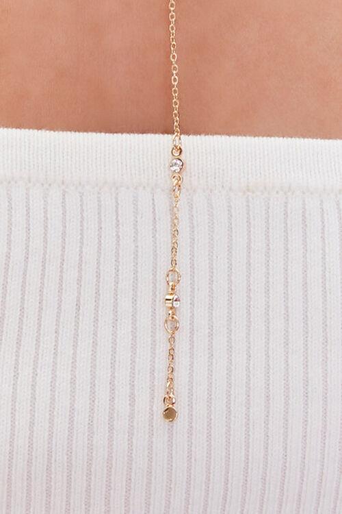 GOLD Faux Gem Drop Chain Necklace, image 2