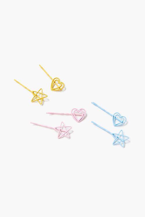 Star & Heart Bobby Pin Set, image 1