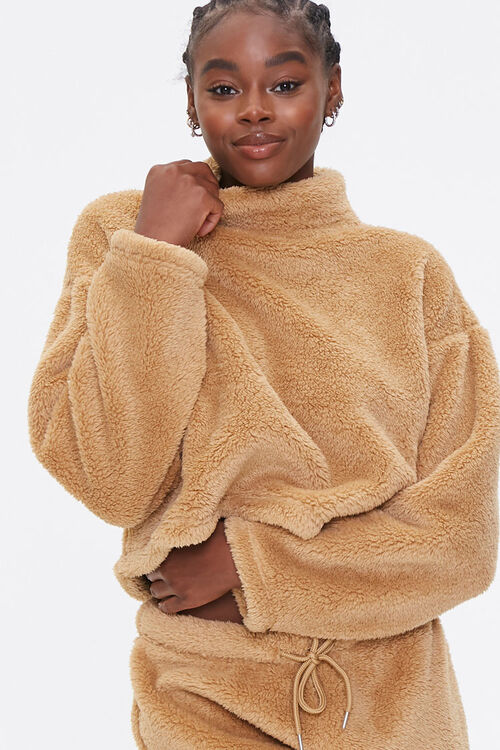 Plush Turtleneck Pullover, image 1