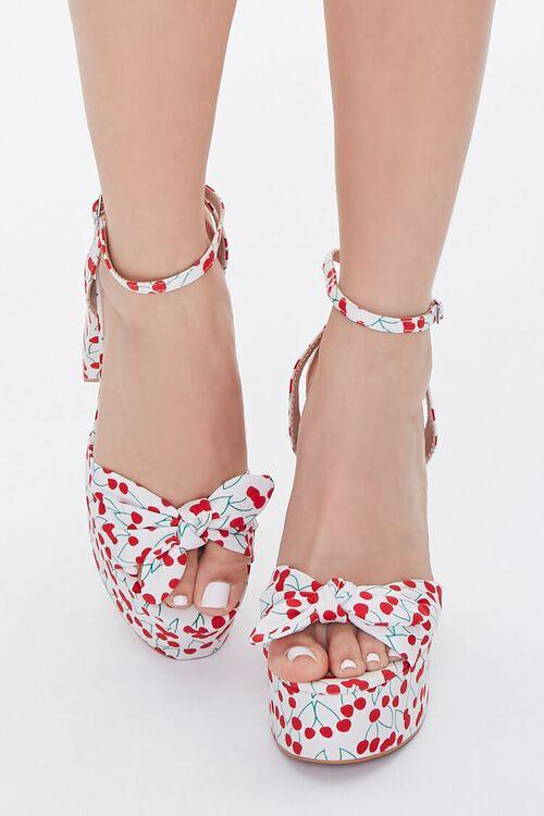 Cherry Print Block Heels, image 4