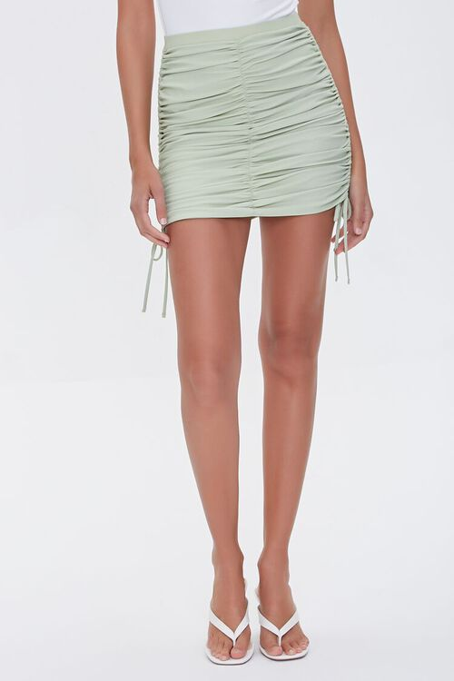 Ruched Bodycon Mini Skirt, image 2