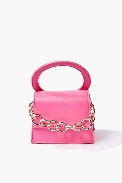PINK Chain-Strap Structured Crossbody Bag, image 1