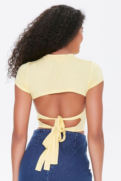 Tie-Back Cropped Tee, image 4
