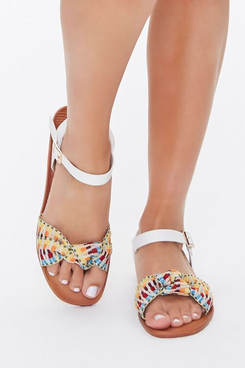 Knotted Geo Print Sandals, image 2