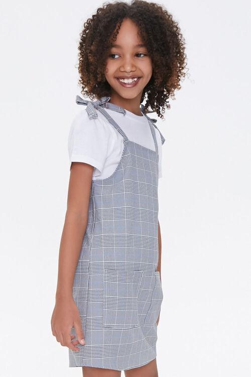 Girls Pinafore Plaid Dress (Kids), image 2