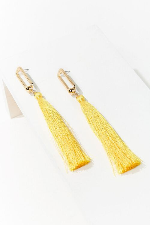 Cutout Tassel Duster Earrings, image 2
