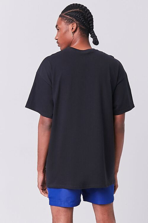 BLACK/MULTI Emotions Embroidered Graphic Tee, image 3