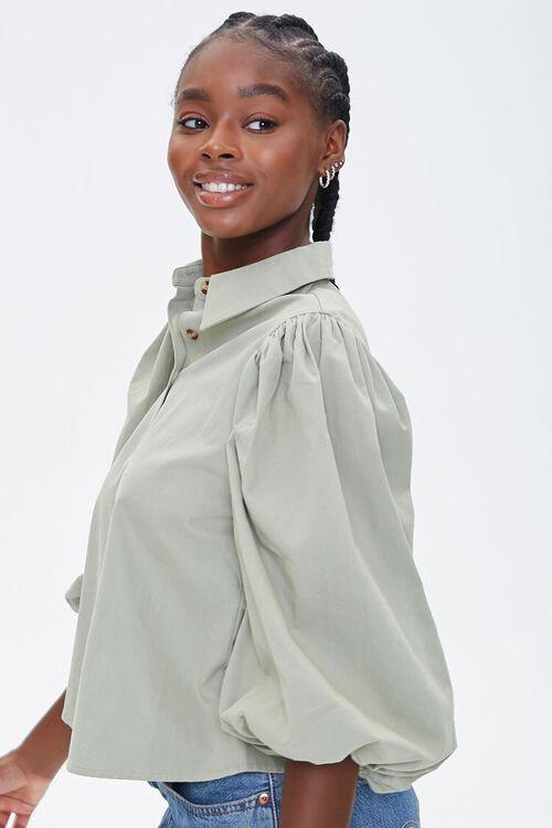 Balloon-Sleeve Shirt, image 2