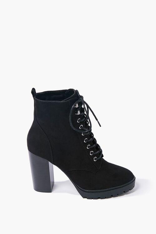 Lace-Up Block Heel Booties, image 1