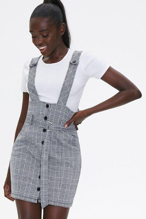 Plaid Pinafore Dress & Tee Set, image 1