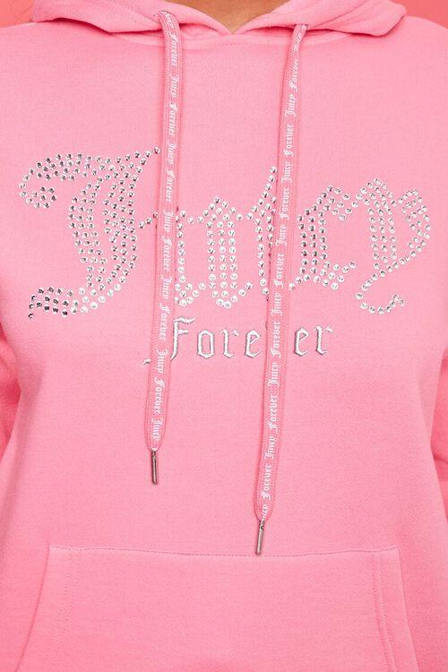 PINK/MULTI Juicy Couture Rhinestone Fleece Hoodie, image 5