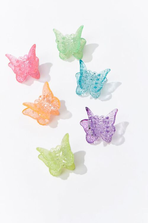 PINK/MULTI Butterfly Claw Clips, image 3