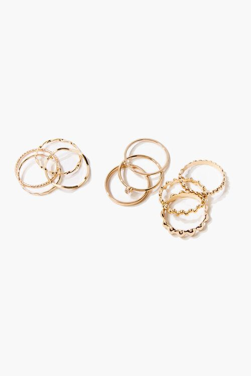 Upcycled Textured Ring Set, image 1
