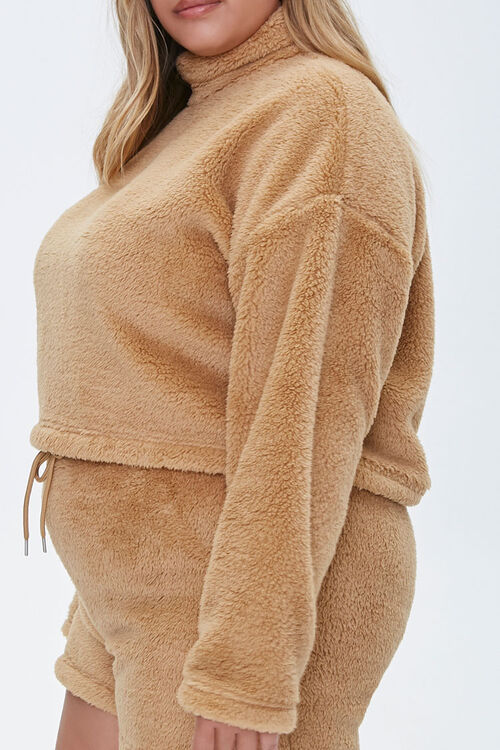 Plus Size Fuzzy Pullover, image 2