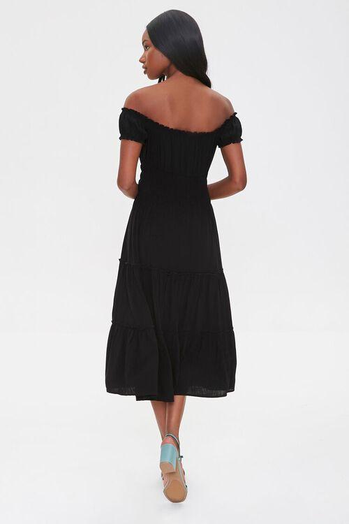 Linen Off-the-Shoulder Dress, image 4