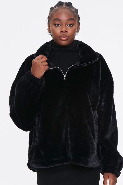 Plush Drop-Sleeve Jacket, image 1