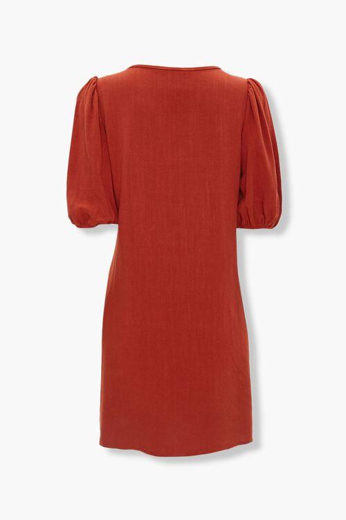 Peasant-Sleeve Shift Dress, image 2