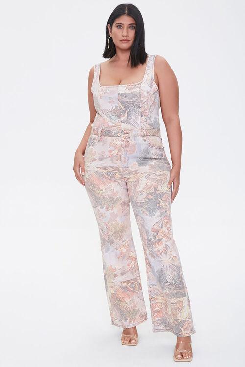 Plus Size Renaissance Art Print Ankle Jeans, image 5
