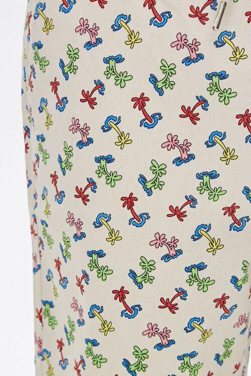 Palm Tree Print Drawstring Shorts, image 6