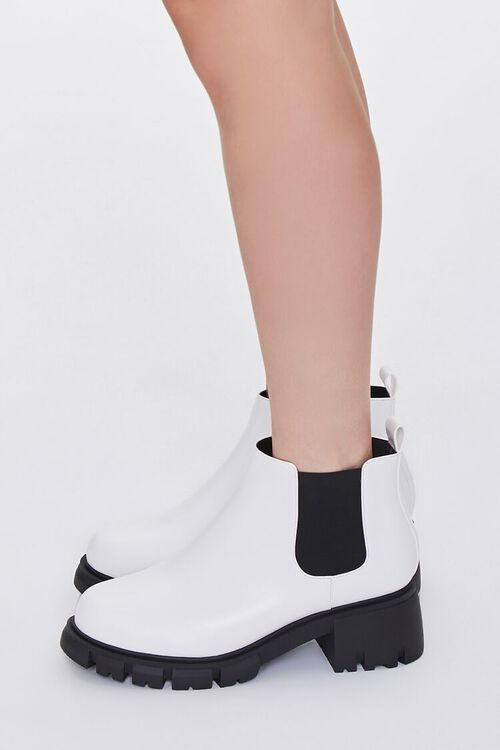 Faux Leather Chelsea Booties (Wide), image 2