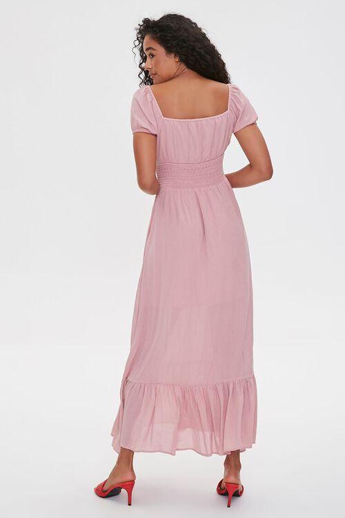Puff-Sleeve Sweetheart Maxi Dress, image 3