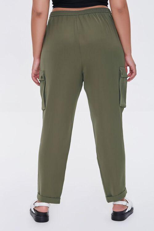 Plus Size Drawstring Cargo Pants, image 4