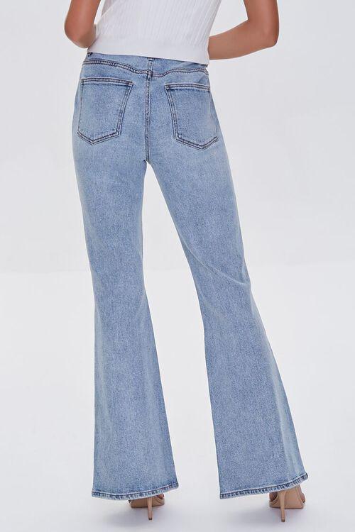 LIGHT DENIM Premium Distressed Flare Jeans, image 4