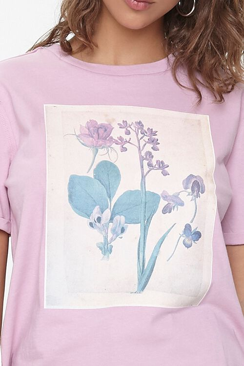 Floral Graphic Crew Tee, image 5