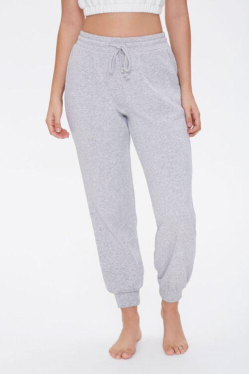 HEATHER GREY French Terry Pajama Joggers, image 2