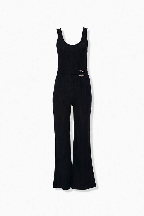 Ribbed Knit Wide-Leg Jumpsuit, image 4