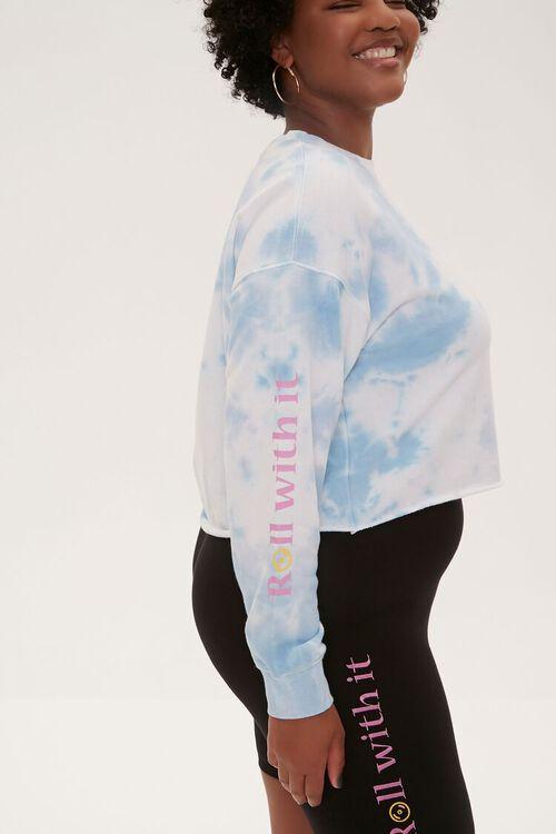 BLUE/MULTI Plus Size Tie-Dye Moxi Skates Top, image 2
