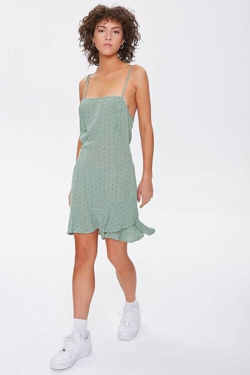 SAGE/CREAM Ditsy Floral Mini Dress, image 4