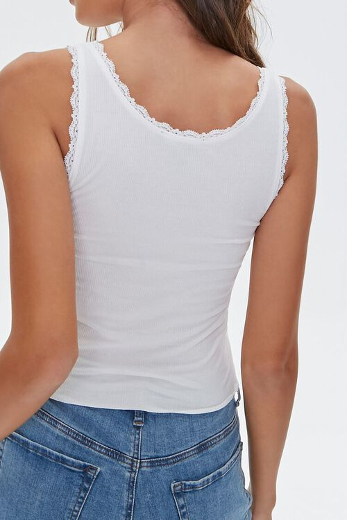 Lace-Trim Not You Tank Top, image 3