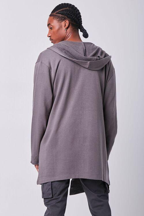 GREY Longline Hooded Cardigan Sweater, image 3