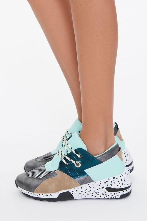 Paneled Low-Top Sneakers, image 2