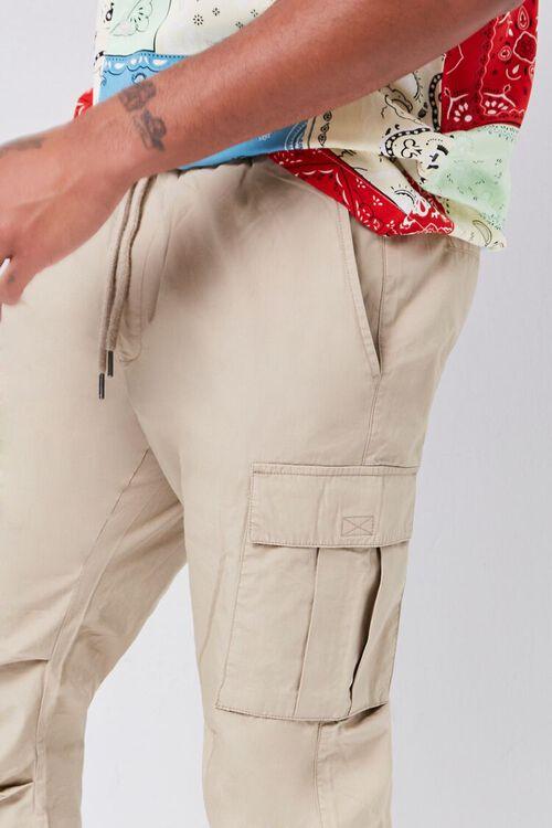 Smocked Drawstring Cargo Pants, image 5