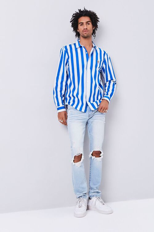 Classic Fit Embroidered Popcorn Shirt, image 4