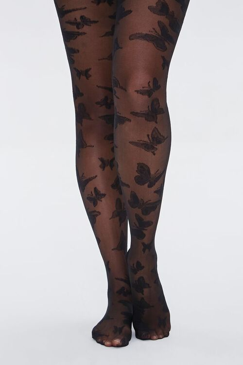 Sheer Butterfly Tights, image 4