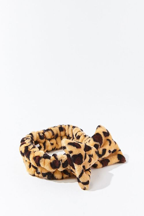 Leopard Print Bow Headwrap, image 2
