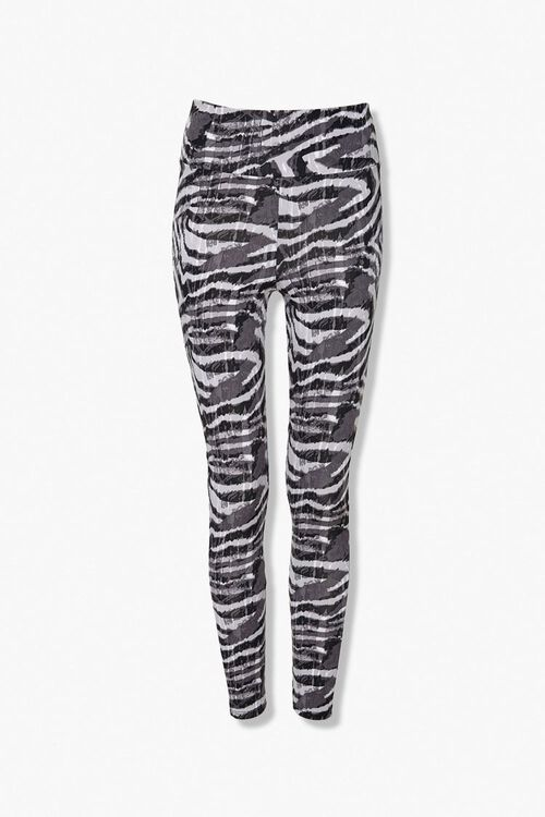 Active Zebra Print Leggings, image 1